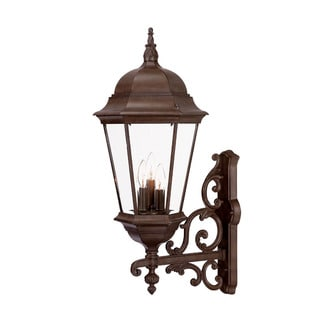 Acclaim Lighting Richmond Collection Wall-Mount 3-Light Outdoor Burled Walnut Light Fixture
