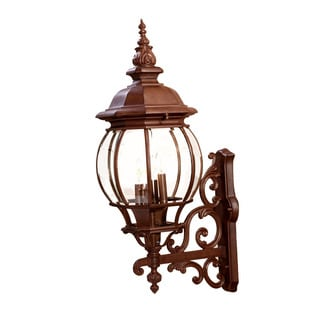 Acclaim Lighting Chateau Collection Wall-Mount 4-Light Outdoor Burled Walnut Light Fixture