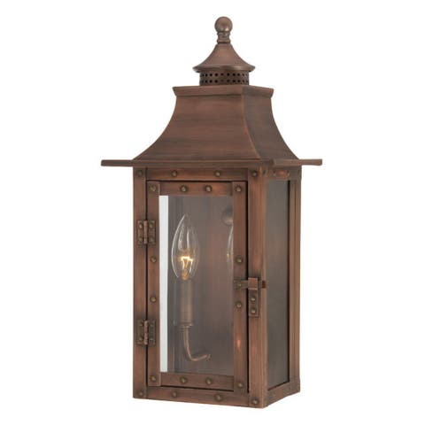 St. Charles 2-light Aged Brass Outdoor Wall Mount