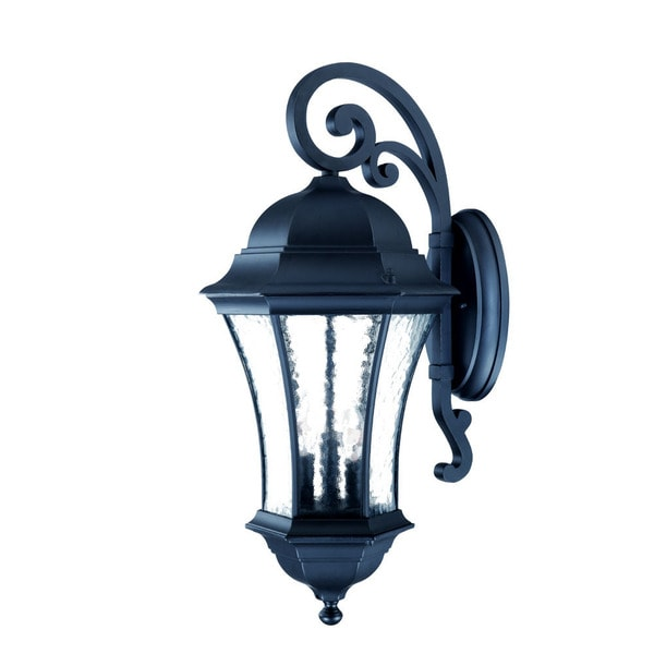 Acclaim Lighting Waverly Collection Wall-Mount 3-Light Outdoor Matte Black Light Fixture