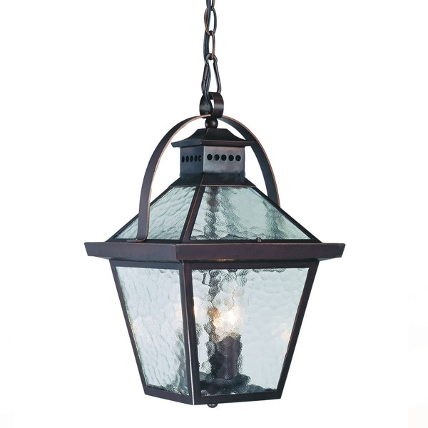 Acclaim Lighting Bay Street Collection Hanging Lantern 3 Light Outdoor Architectural Bronze Fixture
