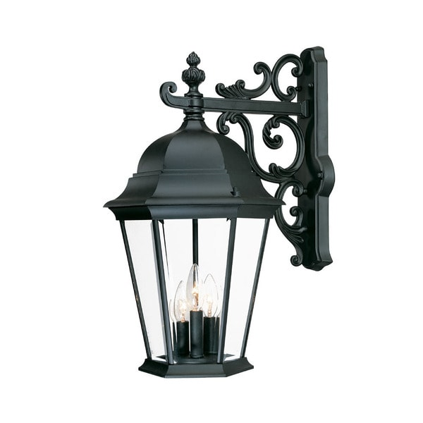 Acclaim Lighting Richmond Collection Wall-Mount 3-Light Outdoor Matte Black Light Fixture