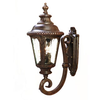Acclaim Lighting Surrey Collection Wall-Mount 3-Light Outdoor Black Coral Light Fixture