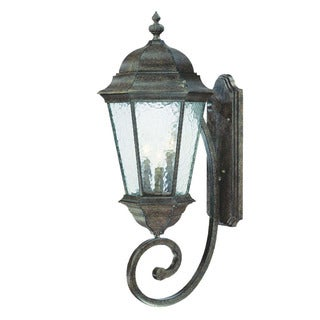 Acclaim Lighting Telfair Collection Wall-Mount 3-Light Outdoor Black Coral Light Fixture