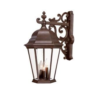 Acclaim Lighting Richmond Collection Wall-Mount 3-Light Outdoor Burled Walnut Light Fixture