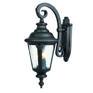 Acclaim Lighting Surrey Collection Wall-Mount 3-Light Outdoor Matte Black Light Fixture