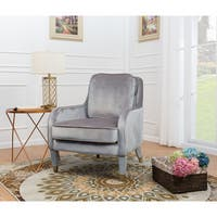 Chic Home Milka Velvet/ Metal Trim Upholstered Accent Club Chair