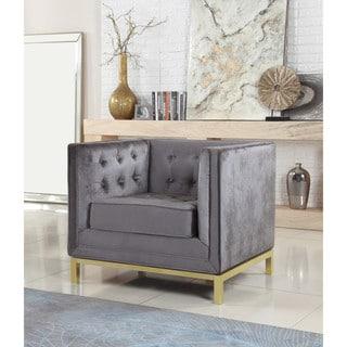 Chic Home Evie Velvet Plush Modern Contemporary Accent Club Chair