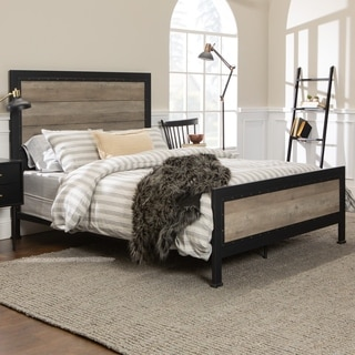 Charmant Industrial Wood And Metal Queen Bed