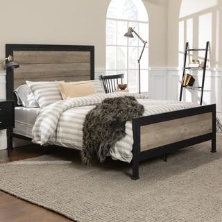 Genial Carbon Loft Santos Industrial Wood And Metal Queen Bed