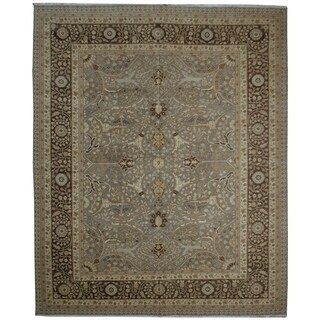 Handknotted Designer Wool Tabriz Rug - 8'2'' x 10'