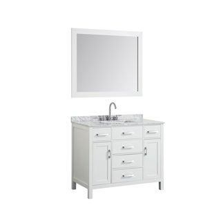 "Belmont Decor Hampton 43"" Single Rectangle Sink Vanity Set In White"