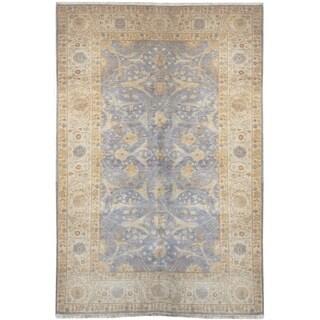 Handknotted Designer Wool Tabriz Rug (6' x 9') - 6' x 9'