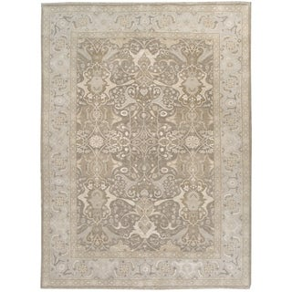 Wool and Silk Tabriz Rug - 9' x 11'2''