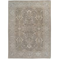 Wool and Silk Tabriz Rug - 9' x 12'5''