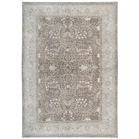 Wool and Silk Tabriz Rug (9'10'' x 14') - 9'10'' x 14'