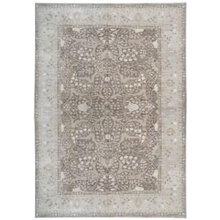 Wool and Silk Tabriz Rug (9'10'' x 14') - 9'10'' x 14'