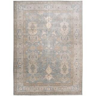 Wool and Silk Tabriz Rug - 8'11'' x 12'