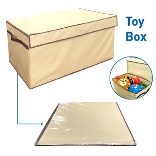Large Toy Box Folding Toy Trunk Organizer with Toy Box Lid