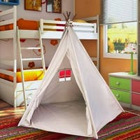 EasyGo Products Indoor Tee Pee Tent - 6 Foot Tall Classic Indian Play Tent for Kids with Five Wood Poles and Carry Bag