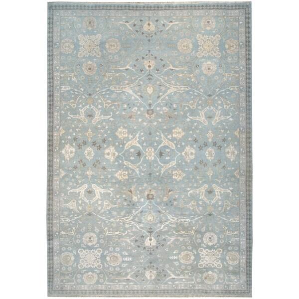 Wool and Silk Tabriz Rug (9'10'' x 13'10'') - 9'10'' x 13'10''