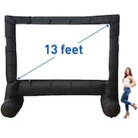 MEGA SCREEN XL MOVIE SCREEN - INFLATABLE PROJECTION SCREEN- PORTABLE HUGE OUTDOOR SCREEN - Over 13' DIAGONAL