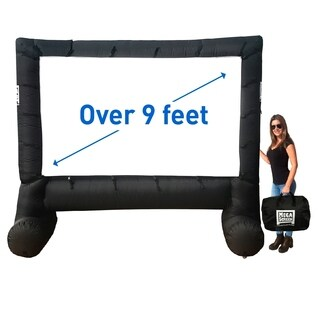 MEGA OUTDOOR SCREEN MOVIE SCREEN - INFLATABLE PROJECTION SCREEN- PORTABLE HUGE OUTDOOR SCREEN - Over 9' DIAGONAL
