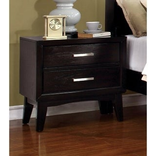 Furniture of America Nace Modern Brown Solid Wood Nightstand