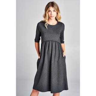 Spicy Mix Jamiya Princess Waist Mid Length Dress + Pockets|https://ak1.ostkcdn.com/images/products/18240970/P24379773.jpg?impolicy=medium