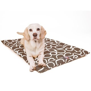 """48"""" Fusion Mocha Brown Crate Dog Bed Mat By Majestic Pet Products"""