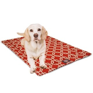 """42"""" Links Red Crate Dog Bed Mat By Majestic Pet Products"""