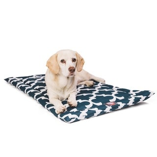"36"" Trellis Navy Blue Crate Dog Bed Mat By Majestic Pet Products"