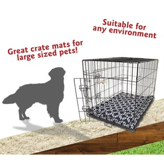 """42"""" Links Navy Blue Crate Dog Bed Mat By Majestic Pet Products"""