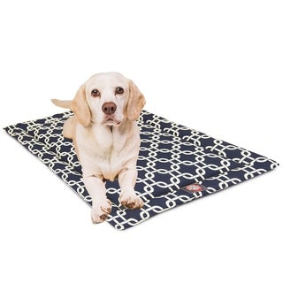 """36"""" Links Navy Blue Crate Dog Bed Mat By Majestic Pet Products"""