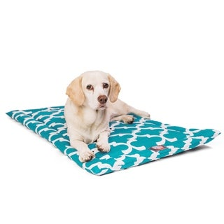 """36"""" Trellis Teal Blue Crate Dog Bed Mat By Majestic Pet Products"""
