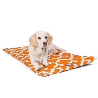 """42"""" Trellis Peach Orange Crate Dog Bed Mat By Majestic Pet Products"""