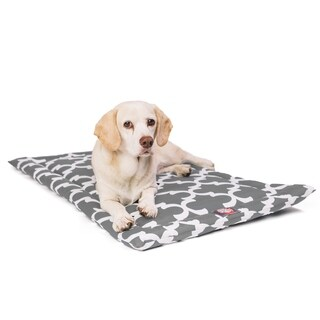 """42"""" Trellis Gray Crate Dog Bed Mat By Majestic Pet Products"""