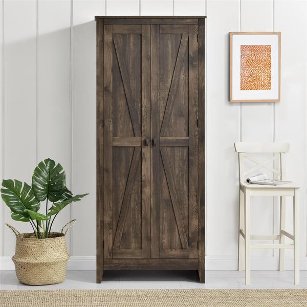 The Gray Barn Latigo Brown 31.5-inch Storage Cabinet. Opens flyout.