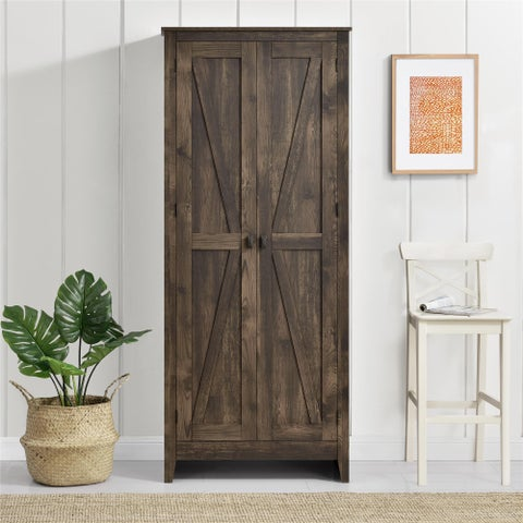 The Gray Barn Latigo Brown 31.5-inch Storage Cabinet