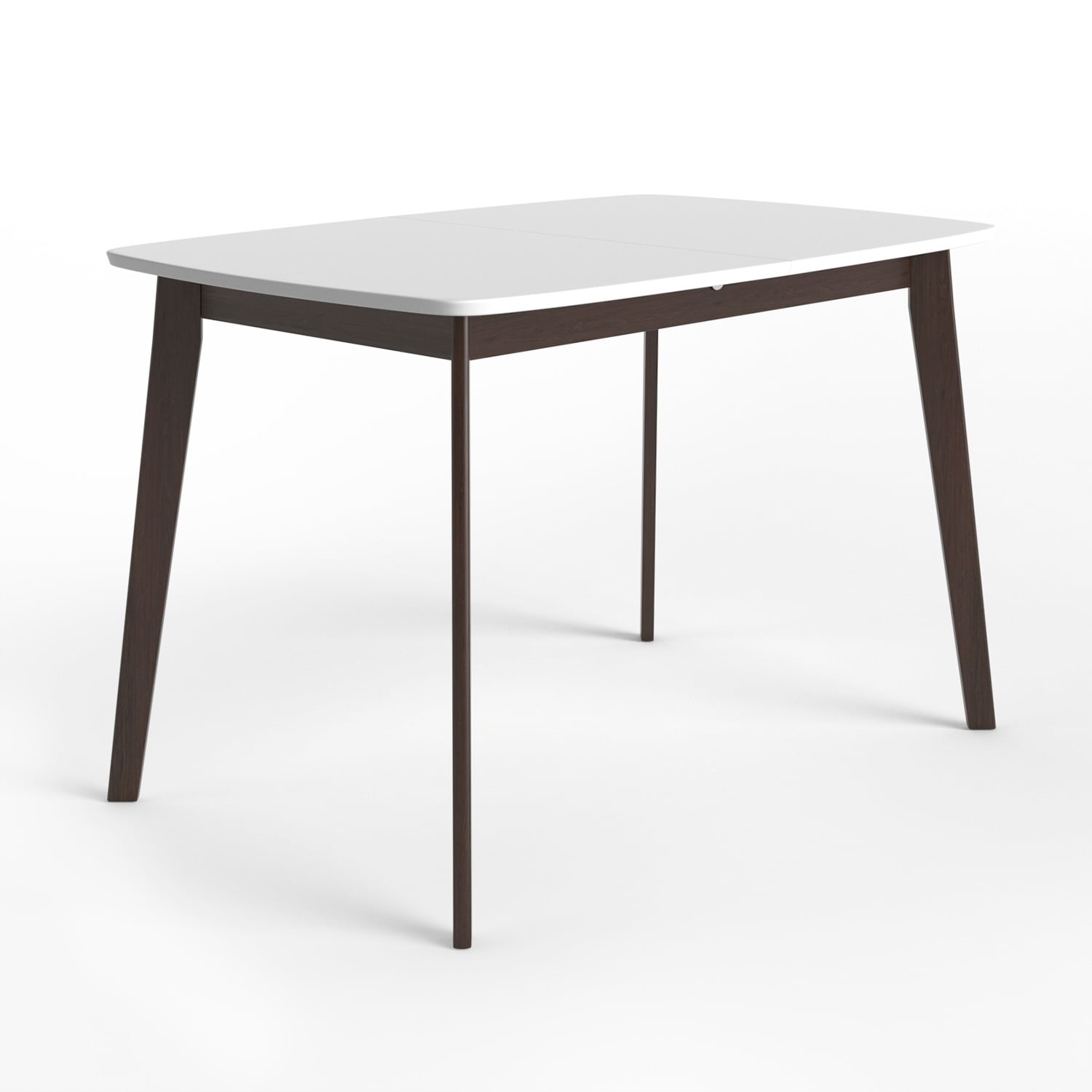 Aeon Furniture Aldo Modern Walnut And White Extension Dining Table