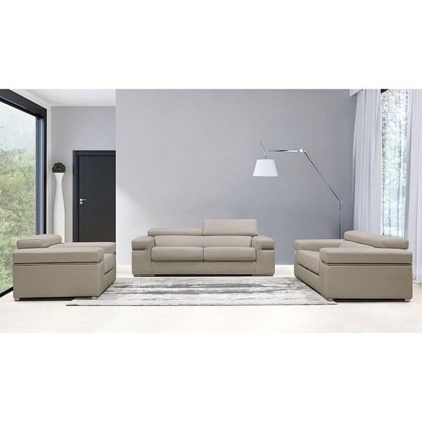 Shop Crandon Classic Light Grey Sofa Loveseat And Chair Set On