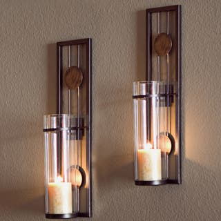 Porch & Den Montclair Columbus Contemporary 2-piece Metal Candle Sconce Set|https://ak1.ostkcdn.com/images/products/18241519/P12678087.jpg?impolicy=medium