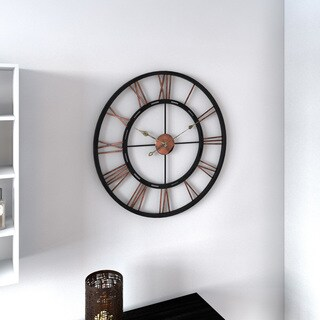 Porch & Den Wayland Aged Copper and Black Wall Clock