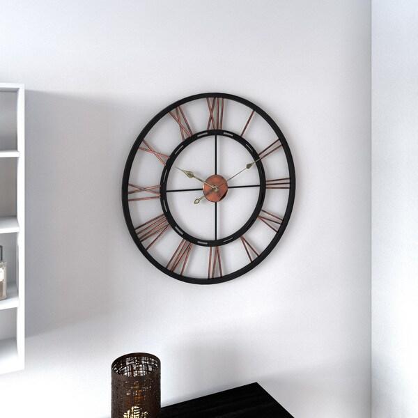 Porch U0026amp; Den Blackstone Wayland Aged Copper And Black Wall Clock