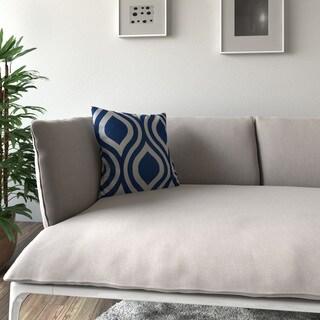 Porch & Den Benson Binney Geometric Indigo Feather-filled 18-inch Throw Pillow