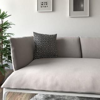 Porch & Den Benson Rubin Black White Feather-filled 18-inch Throw Pillow