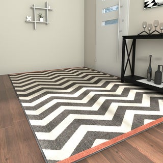 Porch & Den Allston-Brighton Franklin Chevron Indoor/ Outdoor Area Rug (6' x 9')