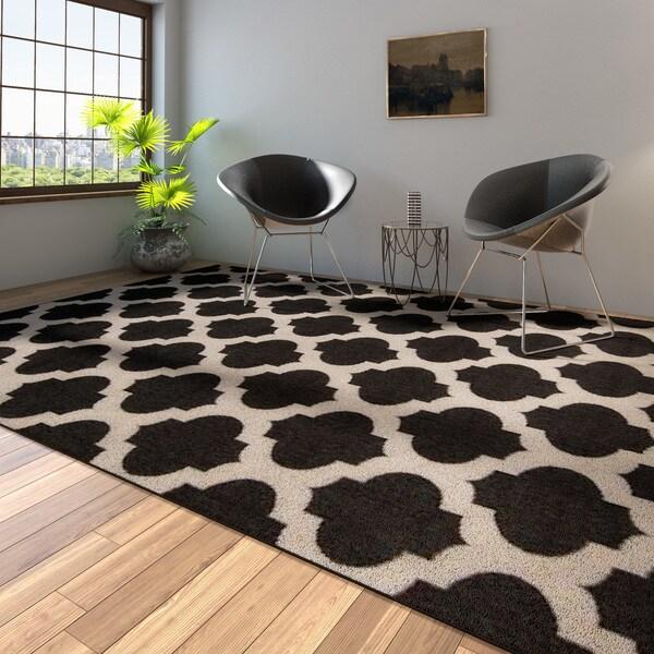 Porch & Den Allston-Brighton Harvard Moroccan Trellis Indoor/ Outdoor Area Rug - 8'9 x 12'9