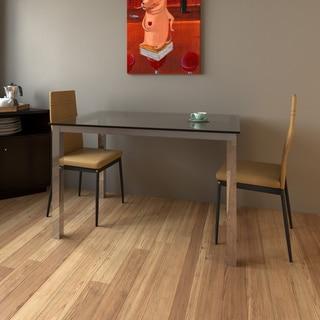 Porch & Den LoDo Blake Glass and Chrome Dinette Table