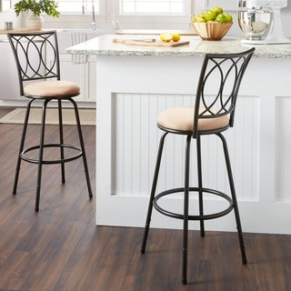 Porch & Den Botanical Heights Folsom Counter Height Adjustable Metal Powder-coated Bar Stool